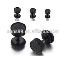 black stud earrings mens black stud earrings stainless steel illusion tunnel