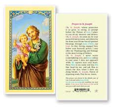 prayer card st joseph 50th year our lord laminated prayer cards 25 pack