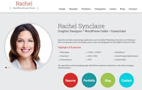 resume templates 2014 wordpress rachel wordpress resume theme for cv and personal websites