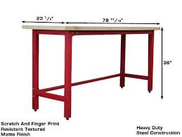 wood top work table workbench w wood top red gses