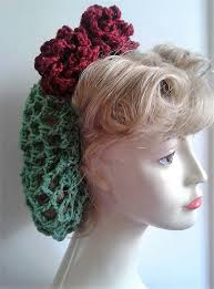 1940s hair accessories 1940 s hair snoods buy knit crochet or sew a snood