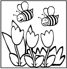 33 spring images coloring pictures kids