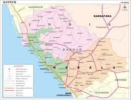 India Map With Cities by Kannur District Map Kerala District Map With Important Places Of