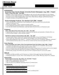 Good Resumes For Jobs by Journalism Resume Berathen Com
