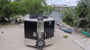 cargo trailer to camper toy hauler conversion youtube