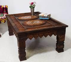 Wohnzimmertisch Schiefer 130x87cm Antik Kolonial Wohnzimmertisch Tischtruhe Tisch