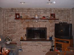 decor u0026 tips living room with brick fireplace and mantle