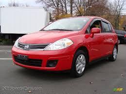 red nissan versa 2010 nissan versa 1 8 s hatchback in red alert 386739
