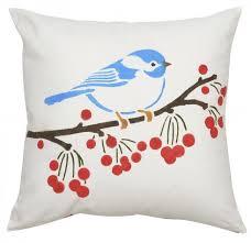 little birdie diy decorative pillow stencil kit diy accent