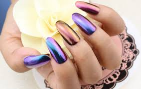 12 colors magic mirror chrome effect metallic powder set nail art