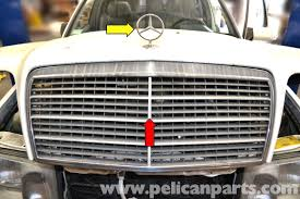 mercedes w124 radiator grille and badge removal 1986 1995 e