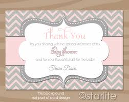 thank you baby shower thank you cards for baby shower extraordinary ba girl shower