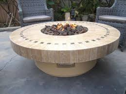 Fire Pits San Diego by Firepit Backyard Outdoor Gas Propane Fire Pit W Marble Mosaic Top