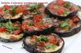 cuisiner aubergine four rondelles d aubergines gratinées à la mozzarella cuisine guylaine