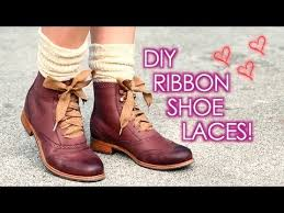 ribbon shoe laces diy ribbon shoe laces easy