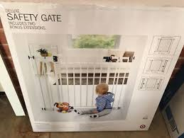 lindam white baby safety gate safety gates gumtree australia