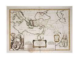 Judea Map Carte Des Regions Land Jerusalem Old Map Bonne 1782