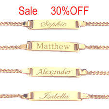 baby gold bracelet with name gold baby bracelet ebay