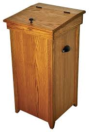 Small Bathroom Trash Can Best 25 Wooden Trash Can Holder Ideas On Pinterest Wooden Trash
