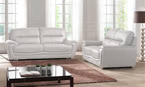 achat canapé cuir canapé design 3 2 places cuir look luxe blanc salerne