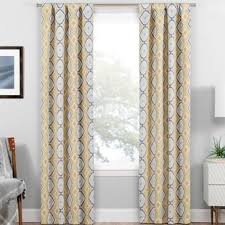 Yellow Brown Curtains Modern Yellow Gold Curtains Drapes Allmodern