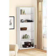 Mainstays 5 Shelf Bookcase White Walmart Com White Bookcase Walmart