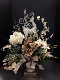 champagne deer urn custom floral by andrea for michaels round rock