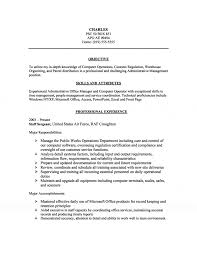 Accomplishments In Resume Management U0026 Computer Operations Resume