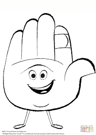 hi 5 from emoji movie coloring page free printable coloring pages