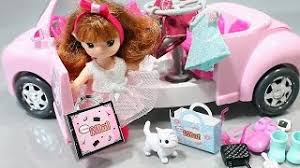 kitty cars doll house tayo bus garage english learn