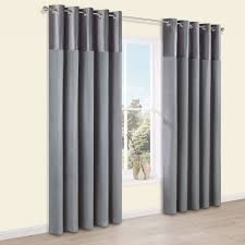 linnet concrete panelled velvet u0026 faux silk eyelet lined curtains
