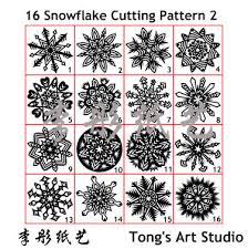 snowflake cutting patterns 6 sided fold and cut