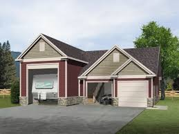 rv garage with two car garage and unfinished loft above rv