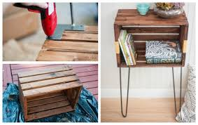 Wooden Crate Nightstand Crate Furniture Ideas Ana White Woodworking Projects