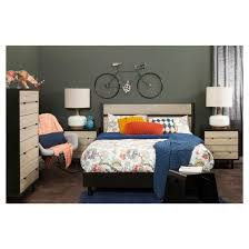 Black Platform Bed Queen Morice Mid Century Platform Bed With Headboard Queen Black