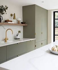 ikea grey green kitchen cabinets 7 gorgeous green kitchens to change your luck all year