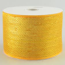 4 poly deco mesh ribbon metallic gold rs200553 craftoutlet