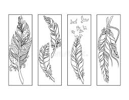 coloring pages bookmarks feather bookmarks coloring page stock illustration illustration of