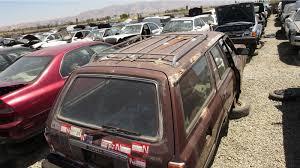 car junkyard washington state junkyard find 1983 toyota cressida wagon salty pacific ocean