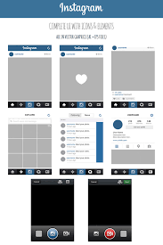 Instagram Layout Vector Illustrator | free instagram complete vector ui by marinad on deviantart