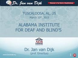Alabama Institute For Deaf And Blind Tuscaloosa Al Us March 10 Th Dr Jan Van Dijk Prof Emeritus