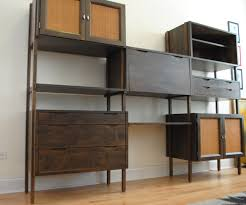 Desk And Shelving Units Mid Century Modern Modular Shelving Unit Phylum Furniture