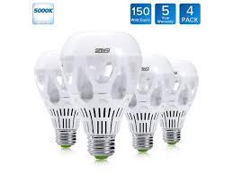 led light bulb wattage chart sansi 150 watt equivalent led light bulbs 18w a21 led bulbs