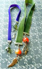 ribbon bookmarks twelve days of christmas jewelry designs 10 velvet bookmarks