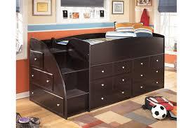 embrace loft storage bed with left steps ashley furniture homestore
