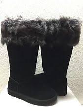 ugg s layna boots black ugg australia layna 1005955 black ruby shearling cuff boots 9 40