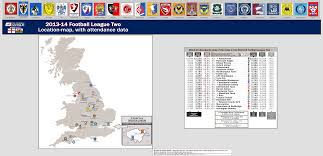 Football Conference Table 4th Division Football League Two 2013 14 Location Map