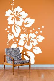 best custom vinyl wall decals ideas pinterest large hibiscus flowers pattern wall decal custom vinyl art stickers danadecals etsy
