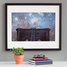 unique wall art creative wall decor art ideas uncommongoods starry night brooklyn bridge