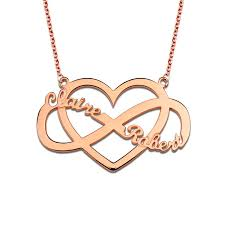 gold plated name necklace personalized infinity heart name necklace 18k gold plated